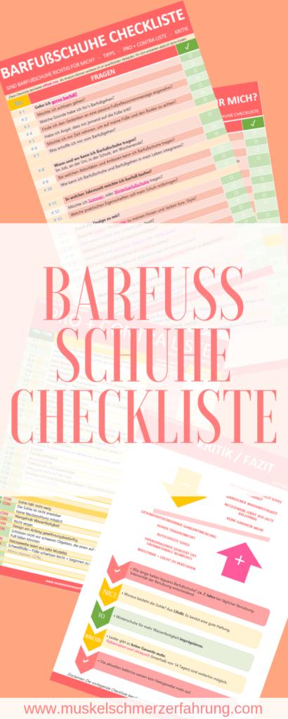 Barfußschuhe Checkliste zum Ausdrucken