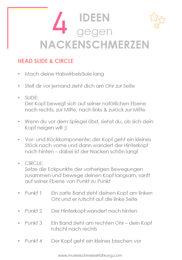 Nackenübung Head Slide & Head Circle Ideen gegen Nackenverspannungen